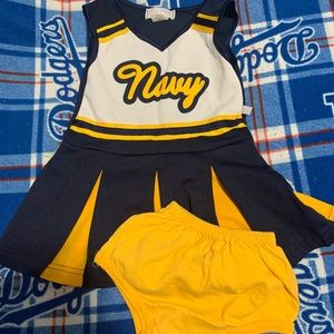 Girl Navy cheer outfit